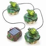 Outdoor Lawn Garden Solar Frog Trio Garden Decor | eBay