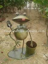 outdoor garden frog decor