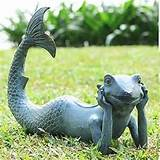 merman frog sculpture