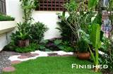 landscaped garden tropical thailand