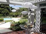 garden party decorations with white lantern