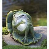 unique glossy frog for cute garden decor in placing some cool garden