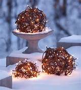 the ball made from light to decorate the outdoor on christmas
