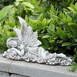 details about laying fairy statue outdoor gnome garden decor