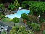 backyard gardens pool patios terraces pergola and waterfalls