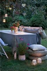 Nice decorating ideas on outdoor resting areas.