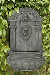 Imperial Lion Outdoor Wall Water Fountain Yard and Garden Decor French ...