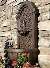 Wall Water Fountain Bronze Finish Outdoor Garden Patio Deck Summer Zen ...