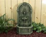 Classic Shell Outdoor Wall Fountain eclectic outdoor fountains