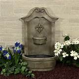 ... Flower of France Outdoor Wall Fountain traditional outdoor fountains