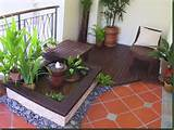 Zen Green tropical Natural Terrace balcony Garden Design Ideas image ...