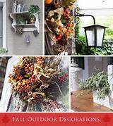 Gallery of the Outdoor Fall Decorating Ideas