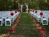 Photo Gallery of the Garden Wedding Decoration Ideas