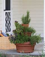 small space garden design with pots tower herb garden inspiration