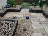 paved garden ideas gravel paving garden patio designs uk 640x480