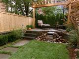 backyard patio ideas with single chair