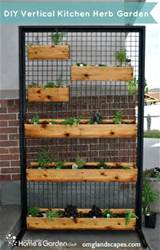 diy projects vertical kitchen herb garden