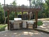 Stone Outdoor Patio Kitchen