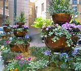 garden ideas - three tiered copper garden containers within the garden ...
