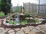 Mini Garden Cornered Pond Ideas With Simple Aquatic Plants Garden