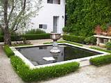 Simple Square Backyard Garden Concrete Pond Design Ideas Amusing ...
