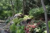 Boulder and stone natural shade garden ideas Allendale NJ