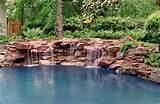 pond natural stone slab waterfall home garden backyard ideas design