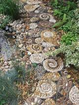 garden path designs and ideas for yard landscaping with stone pebbles