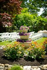 Backyard Wedding Flower Garden