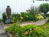 small backyard perennials with the new addition of a water feature