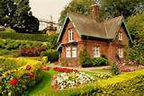 hd cottage garden wallpaper