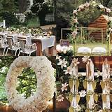 Simple Garden Wedding Decorations With Flower In Garden Wedding Ideas