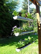 diy herb garden hanging garden made from rain gutters from nest in