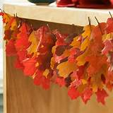 Leaf Garland (Fall decorating ideas with Better Homes Gardens)