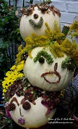 ... the pumpkins with anything you can find in the garden and be creative