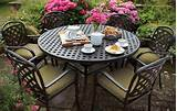 garden furniture sets 6 seater metal garden furniture sets hartman ...