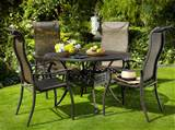 hartman palermo 1 2m round set metal garden furniture