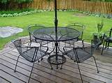 wrought iron patio furniture in true essence enlivens the outdoor