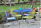 ... colored, spray painted outdoor patio furniture by Serendipity Refined