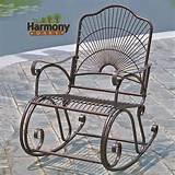 rocker wrought iron outdoor patio porch new furniture rocking chair