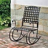 wrought iron patio rocker images