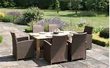 wooden garden furniture set