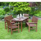 here outdoor living tropicana 5 piece wooden garden furniture set