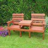 wooden garden furniture for classic natural appeal