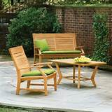oxford garden sutton chat set seats 3 modern patio furniture and