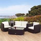 home collections new rattan garden furniture oxford 4 seater brown