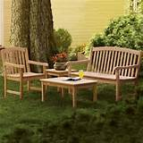 oxford garden chadwick curved back bench set