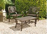 UK-Gardens Bronze Metal 3 Piece Bistro Garden Table and 2 Chairs ...