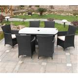 Garden Furniture Wicker Rattan Garden Furniture 6 Seater Rattan Garden ...