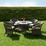 azuma 5pc marseille wicker rattan garden furniture dining table chair